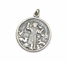 73 best saint francis of assisi images on pinterest catholic vintage st francis of assisi animals protector medalcharm 925 sterling pd 1070 in collectibles aloadofball Choice Image