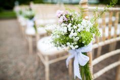 A bright and beautifully decorated outdoor ceremony at Larchfield Estate, Co Antrim | Confetti
