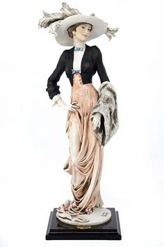 """Limited Edition Giuseppe Armani Figurine Entitled """"Gentle Breeze"""" Late Century Italian Hand Carved Clay Figurine Made with Impeccable Detailing. Porcelain Jewelry, Fine Porcelain, Porcelain Ceramics, Art Deco Decor, Decoration, Armani Jeans, Armani Collection, Indian Dolls, Clay Figurine"""