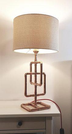 lampe tube Home Depot ? Copper Decor, Copper Lamps, Copper Pipes, Copper Tubing, Home Design Diy, Pipe Lighting, Copper Lighting, Copper Furniture, Lampe Tube