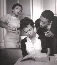 Photograph Eve Arnold : At a school for black civil rights activists, here the young girl is being trained to not react to smoke blown in her face, hair pulled, etc. Virginia Fifteen years old and bearing the burden of the Civil Rights Movement. Black History Facts, Black History Month, Civil Rights Activists, Civil Rights Movement, Victor Hugo, Magnum Photos, Interesting History, African American History, Women In History