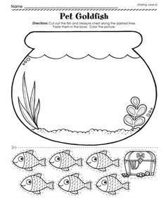 Best Art images in 2019 Preschool Learning Activities, Preschool Worksheets, Preschool Activities, Diy For Kids, Crafts For Kids, Fish Crafts, Busy Book, Summer Crafts, Free Printables
