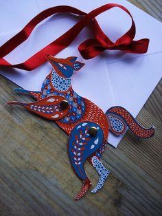 Make a Fox! illustrated greeting card by Karolin Schnoor. $5