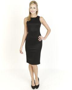 Black Dresses - Satin Shift Black Dress - http://www.blackdresses.co.uk