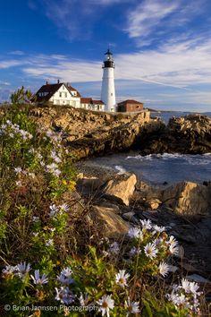 Portland Head Lighthouse near Portland Maine. © Brian Jannsen Photography
