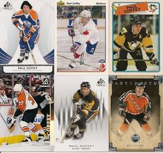 6 DIFFERENT PAUL COFFEY HOCKEY CARDS LOT