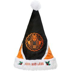 Becky Lynch Santa Hat ❤ liked on Polyvore featuring accessories, hats, holiday hats and cocktail hat