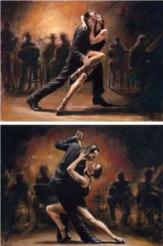 so much emotion and passion! now that's what the Argentine Tango is all about♥ beautiful picture! so much emotion and passion! now that's what the Argentine Tango is al. Shall We Dance, Just Dance, Danse Salsa, John Neumeier, Tango Art, Tango Dancers, Belly Dancing Classes, Dance Paintings, Indian Paintings
