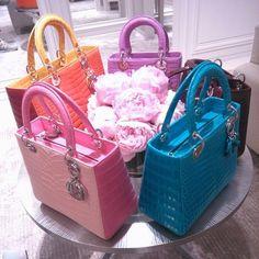 Love for elegant Lady Dior handbags. #ladydior #dior