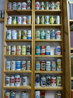 Beer Can Collection  at Angela's Attic in So. Beloit, Illinois