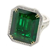 3 CT TDW GREEN & WHITE SOLITARE DIAMOND ENGAGEMENT RING WITH 14 K WHITE GOLD #A2 #Solitaire