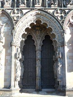 "vwcampervan-aldridge: "" Arched ornate doorway at Lichfield Cathedral, Lichfield, Staffordshire, England All Original Photography by http://vwcampervan-aldridge.tumblr.com """