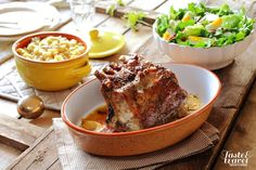 Sunday lunch: roast meat with potatoe and green salat