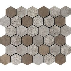 Auberge Textured 10 3/8x12 Hexagon Limestone Mosaics