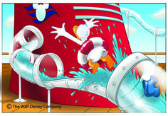 I had the great opportunity of illustrating some art for the Disney Dream, the newest ship in the Disney Cruise Line. Cruise Scrapbook, Disney Scrapbook, Scrapbooking, Disney Halloween, Halloween Costumes, Disney Cruise Line, Disney Vacations, Disney Trips, Cruise Vacation