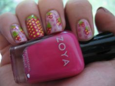Moondancerjen's Nails: Summer Fruit Week - Day 3: Strawberries for ... - freehand nail art step by step pictures