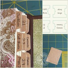 Free printable divider tabs. They'd be great for a planner. More