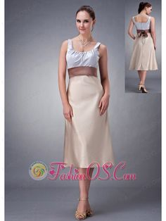 Buy column scoop champagne belt tea length quince dama dresses from most popular dama dresses collection, square neckline a line in champagne silver color,cheap tea length satin dress with zipper back and for homecoming sweet 16 quinceanera . Romantic Bridesmaid Dresses, Tea Length Bridesmaid Dresses, Bride Dresses, Silver Dama Dresses, Satin Dresses, Best Evening Dresses, Wedding Dress Shopping, Belted Dress, Dress Collection