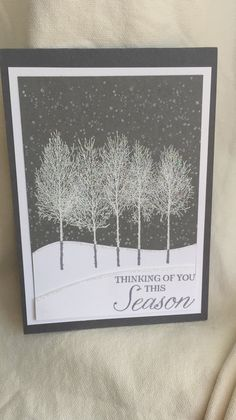 About Xmas Cards Handmade Winter Scenes 91 - sitihome Homemade Christmas Cards, Christmas Tree Cards, Stampin Up Christmas, Homemade Cards, Holiday Cards, Christmas 2019, Xmas Cards Handmade, Stampin Up Weihnachten, Winter Karten