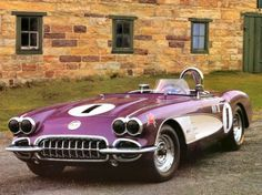 Ahh, my favorite color! Awesome car!!! 1958 Corvette Purple People Eater. purple cars, purple trucks, purple SUV