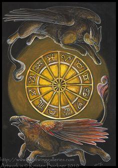 Gryphon Tarot: Rota Fortuna by silvermoonnw on DeviantArt
