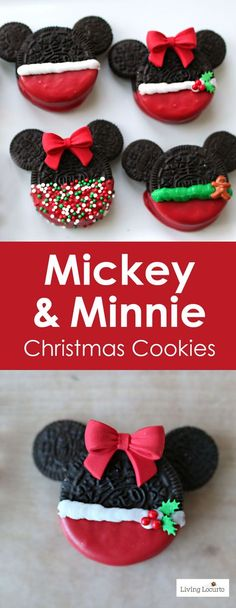 Mickey and Minnie Mouse Christmas Cookies