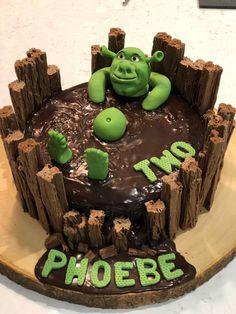 Shrek Cake Two Year Old Birthday Cake In 2020 Shrek Cake with Shrek Birthday Cake - Party Supplies Ideas Boys 18th Birthday Cake, Funny Birthday Cakes, Funny Cake, 1 Year Old Birthday Cake, Bad Cakes, Cute Cakes, Shrek Cake, Brithday Cake, Ideas Party