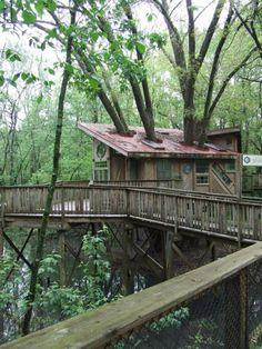 Tree house at the nature center, on Lookout Mountain, Chattanooga, TN. Dream Vacations, Vacation Spots, Oh The Places You'll Go, Great Places, Parks, Chattanooga Tennessee, Tennessee Vacation, Timber House, Camping