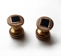 Vintage cuff links  Black pearl cufflinks  by FrenchVintageShop, €12.00