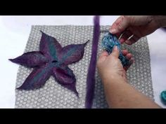 simple tutorial for beginners too Create a Felt Flower - YouTube