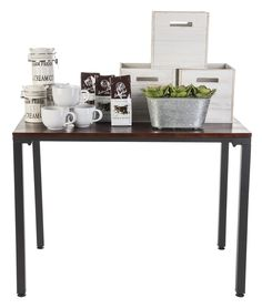 Style a tall industrial pipe table display with your best merchandise to entice customers! Add a rustic flair to your store with help from Retail Fixtures, Store Fixtures, Rustic Feel, Rustic Style, Vintage Style, Portable Gazebo, Rustic Dining Chairs, Modern Rustic Furniture, Barn Parties