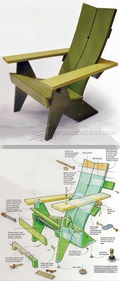 Teds Wood Working - Adirondack Chair Plans - Outdoor Furniture Plans & Projects | WoodArchivist.com - Get A Lifetime Of Project Ideas & Inspiration! #WoodworkingPlansAdirondack