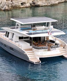 Catamaran Design, Catamaran Charter, Power Catamaran, Yacht Design, Boat Design, Catamaran Yachts, Cool Boats, Used Boats, Small Boats