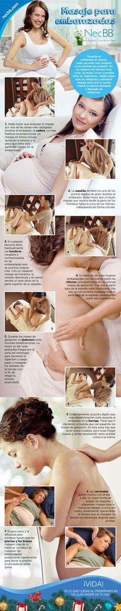"""infografía para pinterest NecBB """"Masaje para embarazadas"""""""