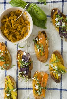Bruschetta with Carrot Pesto