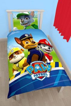 Paw Patrol Adventure Single/US Twin Duvet Cover and Pillowcase Set -- Check out the image by visiting the link. Paw Patrol, Kids Bedding Sets, Boutique, Kids Bedroom, Toy Chest, Duvet Covers, Spiderman, Pillow Cases, Toddler Bed