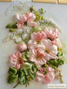 Pink Ribbon Flowers.