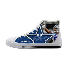 Dallas Cowboys Dez Bryant High Top Canvas Shoes