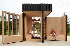 The Story Pod, a popup library powered by the sun -  designed by the Canadian design firm Atelier Kastelic Buffey (AKB), j