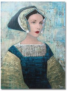 Artodyssey: Richard Burlet.  French and overcome with Klimt. Here comes Anne Boleyn