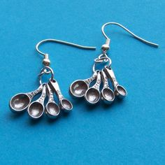 I Love to Cook and Bake Earrings with Tiny Measuring Spoons on silver hooks:  I NEED these for 2012 Christmas Cookie baking time!!!
