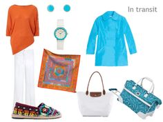 Turquoise & Orange: A Packing Capsule based on Hermes Fleuri de Provence | The Vivienne Files