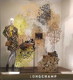 Longchamp Vegetal Forms Window Display (Vision Display Singapore)