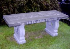 Homemade Concrete Yard Bench