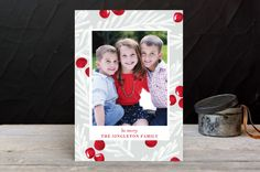 Marker Holly Holiday Photo Cards by Baumbirdy for | Minted