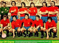 Equipos de fútbol: SELECCIÓN DE ESPAÑA contra Rumanía 17/04/1975