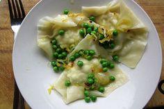 Lemon Artichoke Ravioli with Chili and Baby Peas recipe on Food52