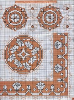 Punto Assisi centro e bordure Crossstitch Cross Stitch Boarders, Cross Stitch Charts, Cross Stitch Designs, Cross Stitching, Cross Stitch Patterns, Japanese Embroidery, Diy Embroidery, Cross Stitch Embroidery, Embroidery Patterns