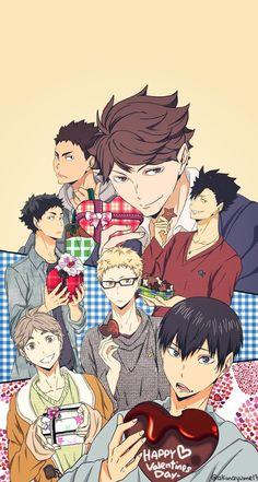 #haikyuu #volleyball #valentinesday #valentine #anime #animeboy #animewallpaper #iphonewallpaper #wallpaper