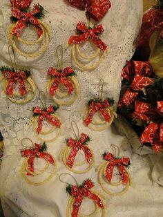 Cowboy Christmas Decorations | Western Cowboy Christmas Mini Lariat Rope Ornaments Set of 10 Original ...